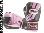 "Rękawice bokserskie Twins FBGV-43 (black/pink pattern) ""FIGHTING SPIRIT"""
