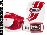 "Rękawice bokserskie Twins FBGV-43 (white/red pattern) ""FIGHTING SPIRIT"""