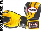 "Rękawice bokserskie Twins FBGV-43 (black/yellow pattern) ""FIGHTING SPIRIT"""