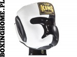 "Kask sparingowy Top King TKHGEC-LV ""EXTRA COVERAGE"" (black/white)"