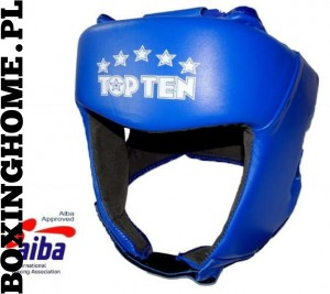 Kask bokserski TOP TEN z atestem AIBA (blue)