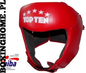 Kask bokserski TOP TEN z atestem AIBA (red)