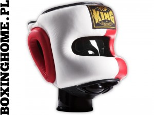 Kask sparingowy Top King TKHGPT (OC) (white/red/black)