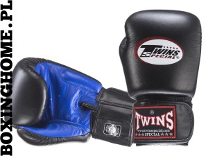 Rękawice bokserskie TWINS - BGVL-3T (black/blue palm)