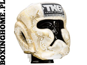 "Kask sparingowy Top King TKHGSS-02WH_GD ""SUPER STAR SNAKE"" (white/gold)"